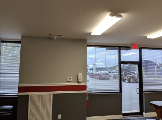 security camera installation at truck dealership